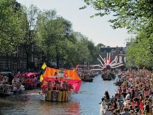 Boten in de Canal Parade, 2013