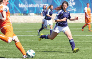 Dames voetbal Maccabiade