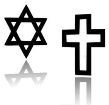 Davidster en kruis