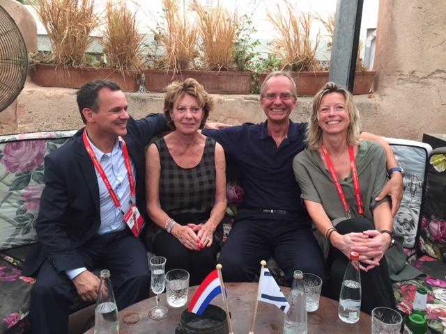 Met Neelie Kroes, Henk Kamp en Kajsa Ollongren