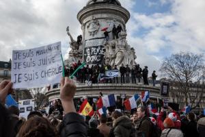 Parijs, 11 januari. Foto: Flash90