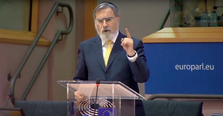Jonathan Sacks in het Europees parlement