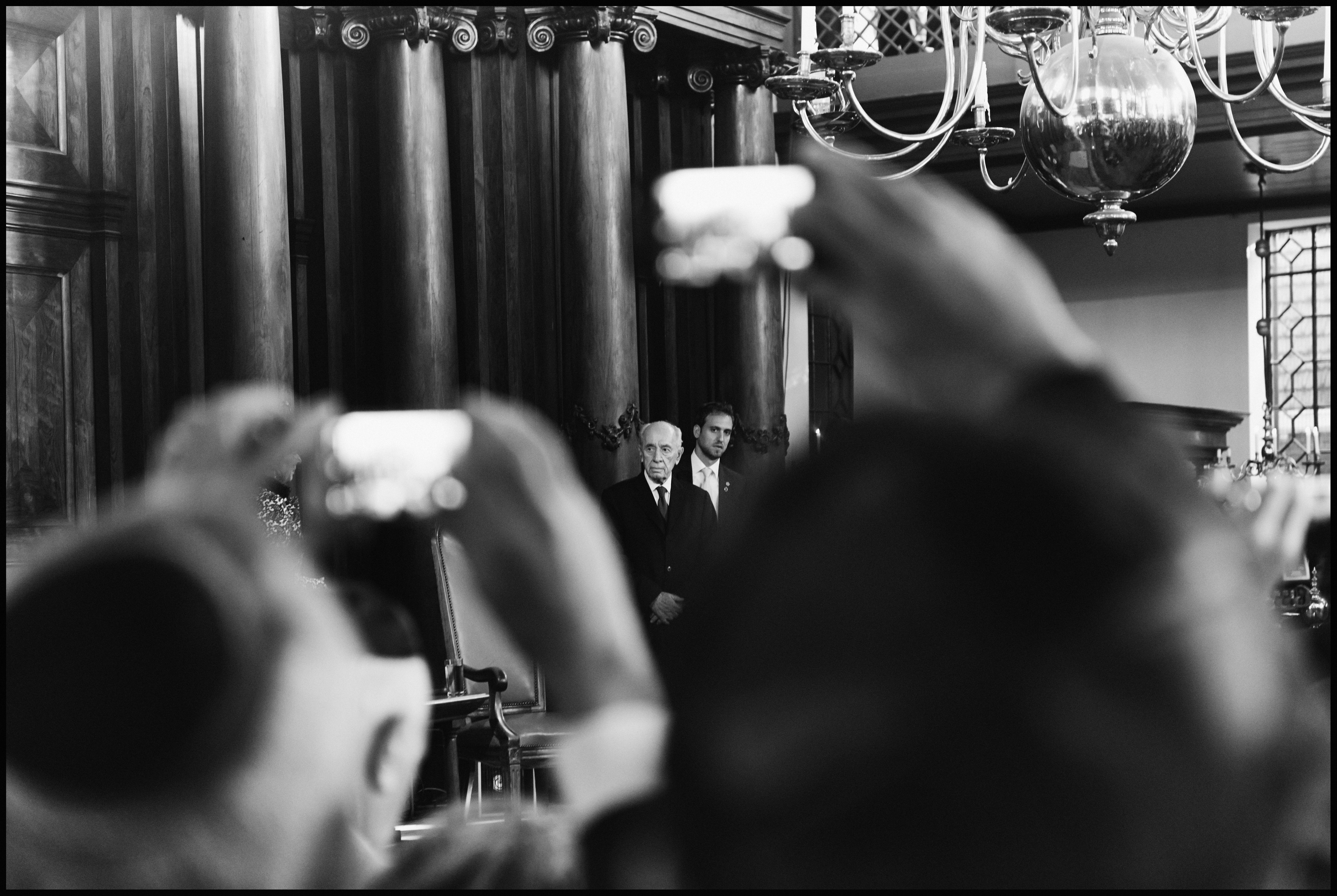 Shimon Peres in de Portugese Synagoge. Foto: Reinier VDA