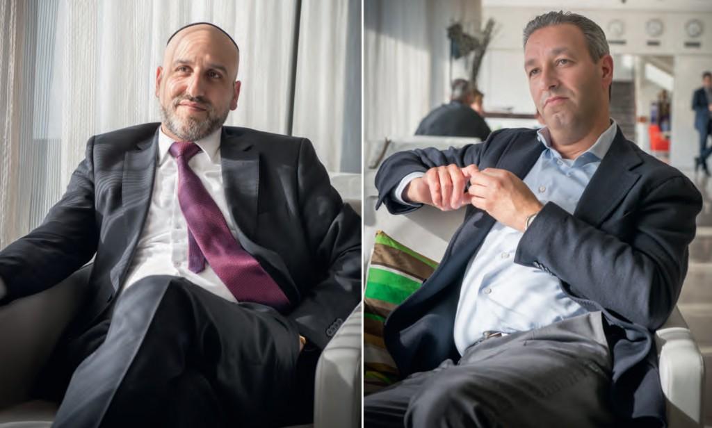 Rabbijn Menachem Sebbag (l) en Doron Sanders