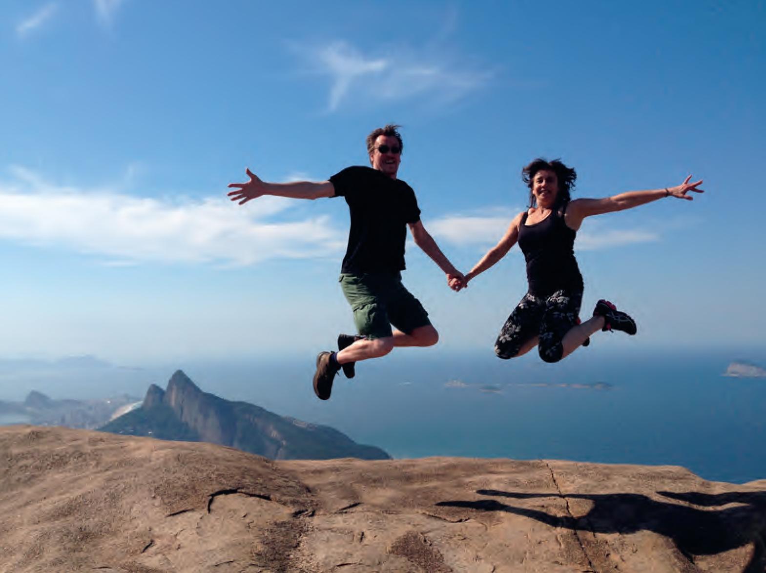 Claudia en haar man Thijs in Brazilië. Foto: Sofia van der Donk
