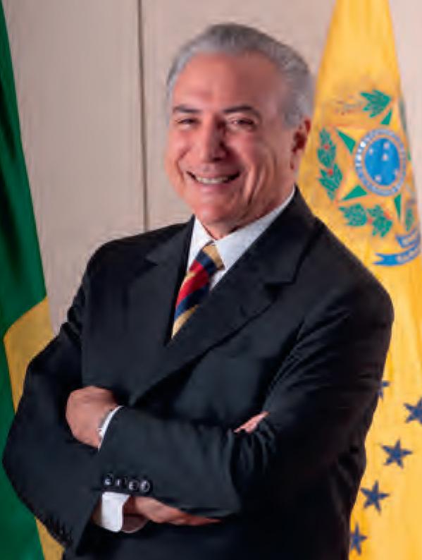 De nieuwe president van Brazilië Michel Temer