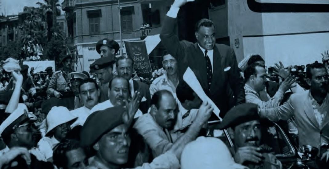 Nasser toegejuicht door zijn supporters, 1956